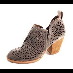 Jeffrey Campbell rosalee taupe booties 6.5